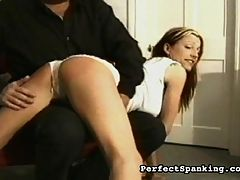 Efficient with the cane : Spankmaster Bob is given a tough assignment he has to discipline a naughty housewife who cant control her appetite. Every time she wants to eat, he gives her a hard paddling and a lash with the cane. By the end, he crams pastry in her face to give her a final humiliation.