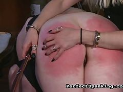 Red Raw Asses : Two punk chicks get busted for shoplifting and their captors delight in paddling their young firm asses. The cane lashes break the skin and the beautiful tramps are left crying and tingling in ecstasy.