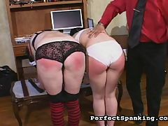 Cane bruises : Two punk chicks get busted for shoplifting and their captors delight in paddling their young firm asses. The cane lashes break the skin and the beautiful tramps are left crying and tingling in ecstasy.