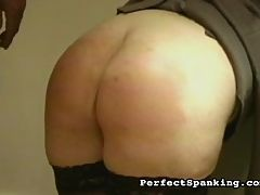 Luscious Spanking : Cruel Real Estate professional lure a tiny waif to their open house, and proceed to subject her to a terrible punishment. Both the crusty old man and his buxom assistant take turns spanking and caning, turning the girls skinny ass into bloody hamburger.