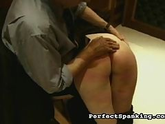 2some discipline : Angry Mr. Cooper has to deal with a smartmouth candyass?he takes a lot of pleasure in his work, and he bends her over and smacks her ass over and over with a broad leather paddle and a sharp, stinging cane.