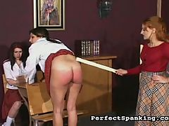 Long Legged Beauty : Mistress Gemini savors punishing a pair of nasty tarts. Check out the slap action ATK and the stinging paddles and lashing canes. Their asses will be marked and bruised for weeks!