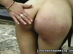 Spanky Freaks : A hot older mistress is excited to get her hands on a bad young nubile waif. The mistress enjoys taking her time spanking, and making sure the yong bitch gets all of the misbehaving slapped out of her.