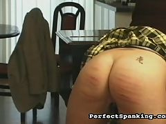 Savage Lasson : Nasty tart has to go to her piano lessons, but too many mistakes leads her teacher to get the paddles and the canes. Her schoolgirl skirt gets hiked up and her ass gets smacked, stroked and caned, and ends up red and throbbing.