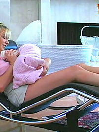 Blonde teen babysitter fucked hard by the boss and wife