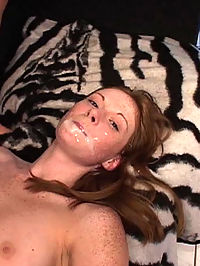 Redheaded Alison gets gangbanged by two older guys