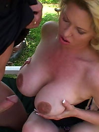 Huge titty babe is fucked and left with a pink eye