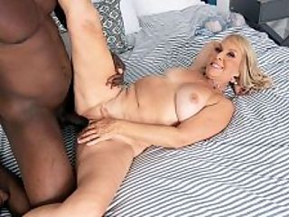 Sandys surprise a big, black cock to fuck! : What are friends for? Sandy Pierce, a 59-year-old mother and grandmother, is about to find that out in her second fuck scene at i50PlusMILFs.comi.br br Sandy is vacationing at a friends house. She doesnt want to go home. Her husband is a deadbeat who only wants to sit around and watch TV.br br So shes on the phone with her girlfriend. Sandy is wondering why her friend told her to get all dressed up.br br You have a surprise for me? Sandy says. Whats the surprise?br br The surprise is that her friend has sent somebody over, but that confuses Sandy even more...and more when Sandy turns around, sees Jax and says, Hey, theres somebody in my backyard. Whats going on here, Monica?br br Sandy opens the door. Jax says, I was told to come and show you a good time.br br By good time, he doesnt mean taking her out for lunch or going shopping or showing her the sights.br br He means fucking her old mouth and pussy with his big, black cock.br br And that, to answer the original question, is what friends are for.