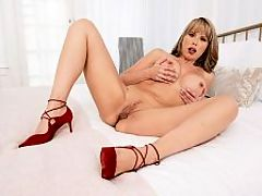 Jack-off instructions from a hot MILF : Have you ever been told just what to do by a MILF? 43-year-old MILF Amber Chase asks. Are you able to follow instructions? If I tell you what I want, will you do it? I want you to get undressed. Its not fair that Im the only one exposed. How about if I help you? How about if I take my top off while you unbutton your pants.br br Amber wants us to get completely naked for her? Okay.br br Get completely naked while you look at my tits, says Amber, whos married and has a grown son. I can tell that youre already so hard for me.br br Amber has a beautiful face and blow job lips. She has red lipstick on those BJ lips, so you can easily imagine it wrapped around your cock. She also has big tits with beautiful tan lines. Amber lives in Hawaii, so she spends a lot of time sunning that hot body of hers.br br We asked Amber what she considers sexy, and she said, I know it when I see it. Its undefinable in a sense.br br Not really. Amber is sexy. Shes the definition of a sexy MILF.