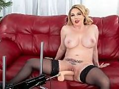 Kiki DAire and The Fuck Machine : Another busy week at i40SomethingMag.comi begins with 43-year-old Kiki DAire, a woman weve known since she was 26, showing off her new toy. Its a fuck machine! Youre her guy but youre away, so this contraption is going to have to do.br br Now whenever I get all lonely and am missing your cock, Kiki says, I can just turn this on. Its kinda like having you with me. I do get really lonely when youre not here, and I wanna play. Do you think I should try it out?br br Damn right we do! Kiki takes off her top to show us her big tits.br br I know how much you love playing with my titties, she says as she jiggles them. Putting your cock between them. I wonder if Im going to like the way it fucks because I love the way you fuck me.br br Well, were going to find out because before long, Kiki has her panties off but keeps her sexy stockings on and lets the fuck machine do what it was designed to do fuck her pussy.br br Thursday, Kiki will get the real thing a big, black cock in her mouth and pussy.br br Even though Kiki loves sex and is horny just about all the time, shes not all about cumming. We asked her what she would do if time were frozen for 24 hours, and she said, Id want to visit Europe hundreds of years ago and check our historical places, like Rome. I love history. And when we asked her how shed spend a million dollars, she said, Id get myself a nice home with a bit of land for my animals and reinvest a huge chunk of it.br br Her biggest mental asset Ive learned to walk away from that which does not serve my soul and puts me in a bad place.br br i40SomethingMag.comi is the right place for Kiki.