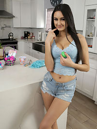 BrattySis.com - Step Sisters Fuck Bunny - S13E8 added to BrattySis.com : Bratty Sis - Step Sisters Fuck Bunny - S13E8 featuring Eliza Ibarra. Added On Apr 3, 2020 Description Eliza Ibarra has a thing for older guys, which she confesses to her stepbrother, Kyle Mason, after learning that Kyles buddy has a crush on her. Kyle learns that Eliza may not be into his friend, but shes definitely into his dad. That info really shakes Kyle, who tells Eliza that his dad is a total dork who might even dress up as a bunny for Easter. The two part ways, but Eliza realizes that now that shes said it she really does want to fuck her stepdaddy. She decides to put on a do me costume where she uses the grass from her Easter basket to cover just her tits and twat. Kyle sees what Eliza is doing and comes up with a plan of his own to get his dick wet courtesy of stepsis.After putting on the bunny costume his dad is planning to wear, Kyle wanders into the kitchen where Eliza is waiting. Assuming its her daddy, Eliza makes it clear that everything the bunny sees is his to take. She slips out of her Easter grass and onto her knees, taking Kyles hard dick between her puffy lips to start sucking him down. Then she gets to her feet and turns around, lifting one leg onto the counter to open herself completely for the bunny to bang her from behind.As Eliza is getting it doggy style, she gradually works her way onto the counter. Kyle takes that opportunity to squeeze her big ass as he bangs his sis. When Eliza rolls over, Kyle gets to feast his eyes on her nicely trimmed muff as he continues to deliver a proper pussy pounding. Eliza is completely into it as Kyle pulls out to blow his load all over her belly. As Eliza is basking in the afterglow, she takes off the bunny head to see her stepdads satisfied expression. Instead she finds her stepbrother, which causes her to freak out.