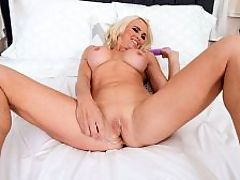 Dani loves her toys : Today, big-titted, 50-year-old blonde Dani Dare talks dirty to get you off. And if thats not enough, she buzzes her pussy with an old-fashioned vibrator and fucks her cunt with another toy.br br Dani is from Canada and lives in Tampa, Florida. Shes married. We asked her what makes her horny, and she said, When a group of our friends all dress in theme and all get naked together on the dance floor. And sometimes people ask to watch us have sex. Kissing sexy, hot girls makes me horny. And guys, too.br br i50PlusMILFsi What do you do for your guy to make him feel special, in and out of bed?br br bDani I love to put on sexy outfits for him when we go out. I will tease a few people we see, do a little grinding on the dance floor and then come back and lay a big, wet kiss on him to let everyone know who Im with. I plan sexy surprises for him. I plan our crazy vacations. I love to add some role play to sexy situations. Im the dream wife!bbr br i50PlusMILFsi If time were frozen for 24 hours, what would you do?br br bDani Id play naked volleyball at Hedonism or somewhere else that could handle our crazy friends. Party our asses off like we did New Years Eve!bbr br i50PlusMILFsi What makes you laugh the hardest?br br bDani Watching our friends do stupid stuff, especially when they have chicken legs! I love shows like iDisjointedi and iToshi.bbr br i50PlusMILFsi Whats the best compliment youve ever received?br br bDani I have competed in the Miss No Swimsuit contest a couple of times, and all the girls go in knowing that the biggest club attendees usually win first, second and third prize, but I won Best Breasts both times and won Miss Congeniality, which is voted on by all the contestants, so it meant the most to me.bbr br i50PlusMILFsi Whats a sure-fire way for a guy to get on your good side?br br bDani Just be yourself. And Im a sucker for romance. For me, its the small things that they do for me. Playing with my hair, holding my hand, kissing me for n