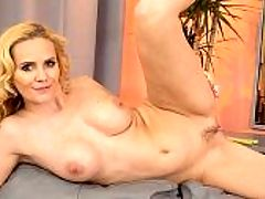 Kinky MILF : I like to be kinky when I am doing porn. The camera makes me act more wild, said Lily Canary, a 41-year-old divorcee and mom. Lily is tight and right. Shes 57, 110 pounds, which makes her a thin, blonde fuck toy. She has long, thin legs, a small waist and big, beautifully shaped tits. Shes really quite a hottie, and in this scene, she proudly shows off her body, including that ass and butthole, before playing with her pussy.br br Lily lives in Brno, Czech Republic. Even though shes only 41, shes already a grandmother, which means she started young. She owns and works at a bubble tea shop. Lily says she likes romantic dates and gentlemen. She also likes anal sex. My ass is very tight, Lily said. Men always tell me it feels like a virgin ass, but its not.br br She likes guys who are the teddy bear-type. Shes a romantic. We asked her if she has any fetishes, and she said, Porn is kinky enough for me.