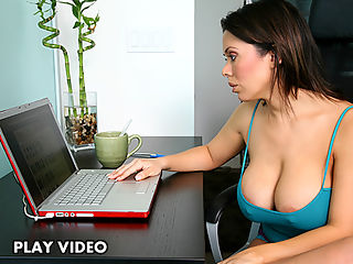 Nude sexy girl cleaning